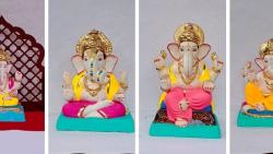 Ganesh Festival: Ganesha idols made of natural clay and paper pulp setting tone for this year
