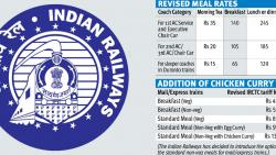 Rly passengers to pay more for meals now