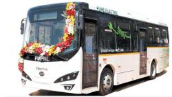 PMC e-bus funds diverted to outsource cleaning work