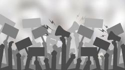 Agitation of trade unions for employment, nearly 50,000 workers protested