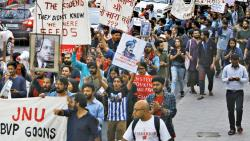 Students protest JNU violence