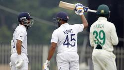 Unstoppable Rohit powers India to 224/3 before bad light and rain forces early end on Day 1