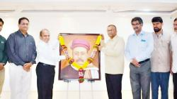 Gokhale's oil painting unveiled on anniversary