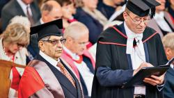 Oxford univ awards honorary doctorate to Cyrus Poonawalla