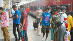 Pune: Railways resume operations; station overcrowded