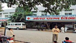 YCM hospital doctors protest over alleged manhandling by BJP Corporator
