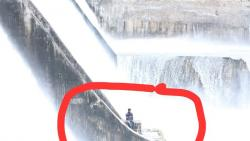Mula dam water discharge halted to rescue 20-year-old man sitting on retention wall