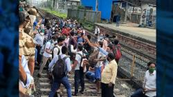 Mumbai: With no buses to travel, stressed commuters block local line at Nalasopara
