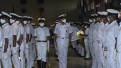 The Course Completion Ceremony was held on August 28, 2020, and was reviewed by Cmde Ravnish Seth, Commanding Officer, INS Shivaji