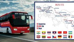 A bus ride from Delhi to London for Rs 15 lakhs?
