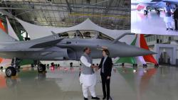 Defence Minister Rajnath Singh receives IAF's first Rafale fighter jet from France
