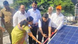 PMC instals solar panel at public toilet