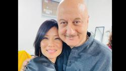 Anupam Kher Gets Directed By Lucy Liu