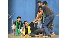 Students perform a street play from their heart and soul to make the event look more lively and happening at the AIT inter-college fest held from August 20 to 22 at Dighi campus of AIT. Pic by: Parag Jadhav.