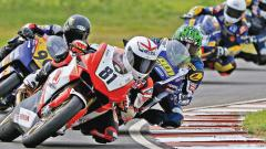 Anish Shetty of Idemitsu Honda Racing in action during the practice session on Friday.