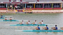 A file photo of sportsmen practising at the Army Rowing Node located at CME.