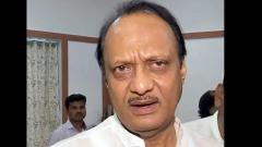 Ajit Pawar returns home, meets supporters