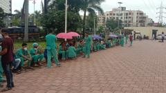 COVID-19 Pune: Aditya Birla hospital employees nursing staff protest against 'unfair treatment' by management