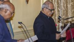 Prez administers oath of office to Lokpal chief Justice Pinaki Chandra Ghose