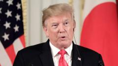 US President Donald Trump speaks during a joint press conference with Japan's Prime Minister Shinzo Abe (not pictured) at Akasaka Palace in Tokyo on May 27, 2019. AFP Photo