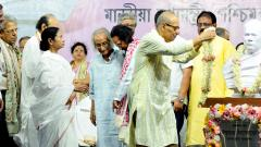 Mamata unveils Vidyasagar bust, statue; says 8 TMC workers among 10 killed in post-poll clashes