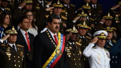 Venezuelan President Nicolas Maduro (C) attends a ceremony to celebrate the 81st anniversary of the National Guard in Caracas on August 4, 2018. Juan Barreto/AFP