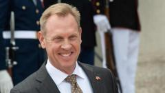 US Acting Secretary of Defense Patrick Shanahan speaks to the press on May 10, 2019. APF Photo