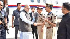 Amit Shah attends meet of top cops