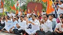 BJP holds agitation against MVA govt