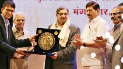 Dr Cyrus Poonawalla felicitated during BMCC's anniv celebrations