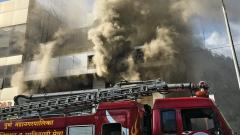Fire at furnishing store on Karve Road