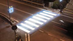Traffic cops may install LED lights on zebra crossings