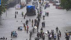 Heavy rains pound Mumbai; normal life, rail traffic hit hard