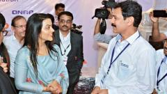 Amruta Fadanvis, Vice President Axis Bank and wife of Chief Minister Devendra Fadnavis visited an E-Waste collection and information centre at IT Expo 2017 organised by Computers and Media Dealers Association (CMDA) at Agriculture college ground on Thursd
