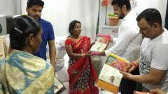 Newly Elected MLA of Kothrud Gift Sarees To Slum Dwellers