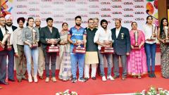 Bajrang, Rani, Rishabh, Manu presented DSJA awards