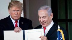 Donald Trump signs declaration on Golan Heights