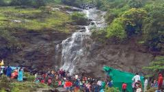 Continued heavy rains in Maharashtra, especially in the Thane district of Ambele Gadge area have been grabbing the attention of tourists who visit for the natural waterfalls in the area.