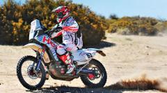 Hero Motosports' Oriol Mena in action during Stage 11 in Fiambala Mountains in Argentina