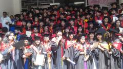 Students of B J Medical College during MBBS graduation ceremony
