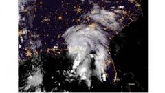 This satellite image obtained from The National Oceanic and Atmospheric Administration (NOAA) shows Tropical Storm Gordon moving towards the US Gulf Coast on Wednesday.