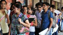 Students queuing up for admissions