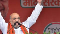 BJP President Amit Shah addresses an election campaign rally for the Lok Sabha polls, in Arrah, on May 11, 2019. PTI Photo