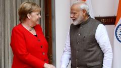 Modi, Merkel all for resuming stalled talks for free trade pact with EU