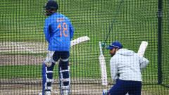 Virat Kohli and Rohit Sharma attend a nets training session at Trent Bridge in Nottingham, England, on June 12, 2019,   ahead of their 2019 Cricket World Cup match against New Zealand. AFP Photo