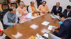 LokSabha 2019: Shah files nomination from Gandhinagar in LS poll debut; senior BJP leaders, allies attend event