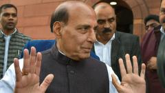 Security forces effectively doing their job: Rajnath Singh