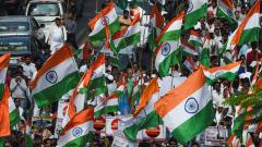 Cong takes out flag march in Mumbai on party's foundation day