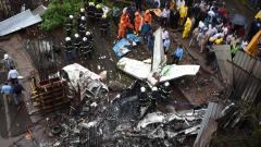 Five killed as chartered plane crashes in Mumbai suburb