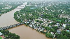 Lower water discharge, less rains bring relief to the city